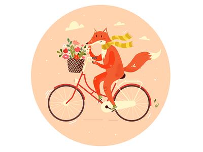 Mr. Fox fox illustration fox children book illustration cozy cute character cartoon illustration adobe illustrator vector