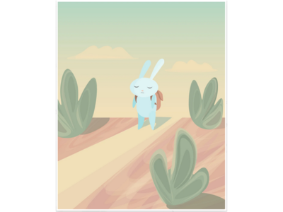 Upset Rabbit Illustration