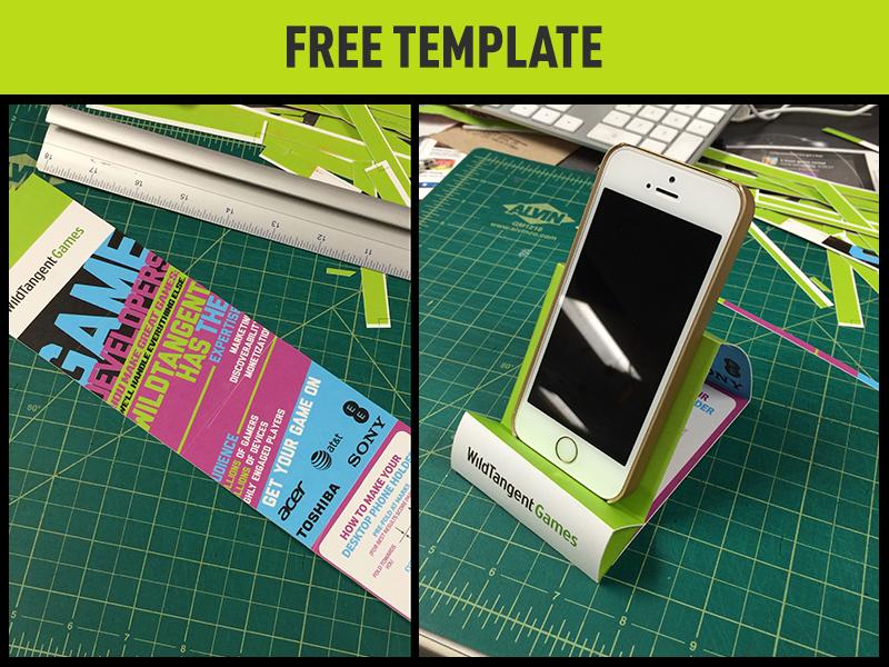 Phone Holder print template phone swag flyer typograhy free dual purpose