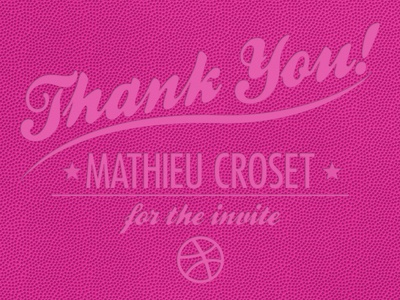 Thank You Mathieu in the game pink thank you
