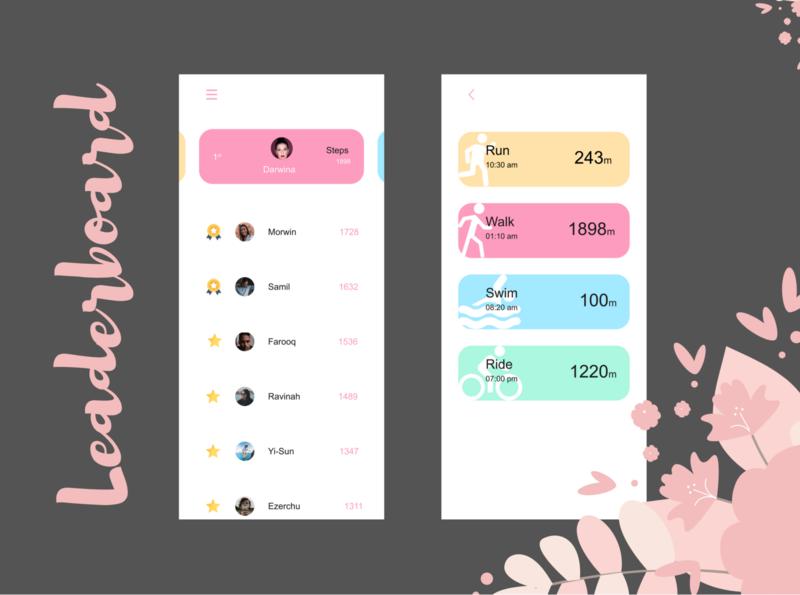 Fitness App Leaderboard - UI