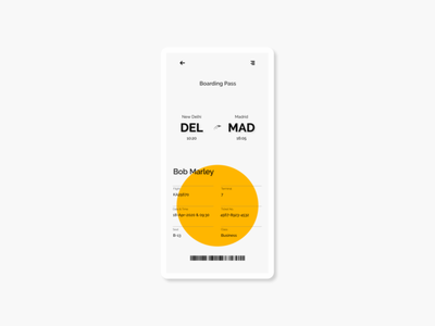 Boarding Pass design dailyui ui adobexd 100daysofui