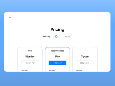 Price Table design dailyui adobexd ui 100daysofui
