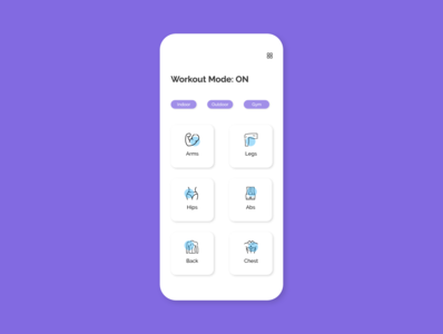 Workout App design dailyui ui adobexd 100daysofui