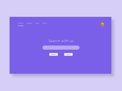 Header Navigation for Search Engine design dailyui adobexd ui 100daysofui