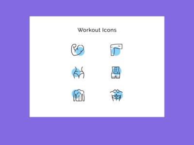 Workout Icon Sets design dailyui adobexd ui 100daysofui