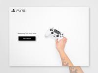 Pre Order Design - Playstation 5 monochrome blackandwhite ps5 playstation5 design dailyui adobexd ui 100daysofui