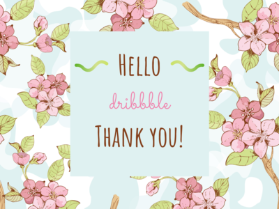 Thank You Dribbble!! thankyou design dailyui adobexd ui 100daysofui