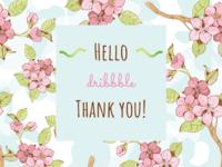 Thank You Dribbble!! thankyou design dailyui adobexd ui 100daysofui
