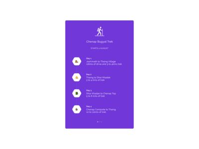 Trekking Itinerary - Design trekking itinerary design dailyui adobexd ui 100daysofui