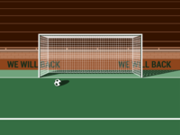 Missing football/soccer goal ball illustration soccer football