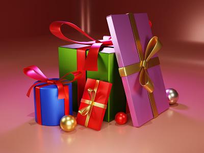 Gifts blendercommunity blenderrender ui design web blender 3dmodelling 3d