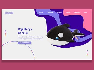 Raja Karya Boneka Website Home graphic design website illustrator ux vector ui branding logo illustration design