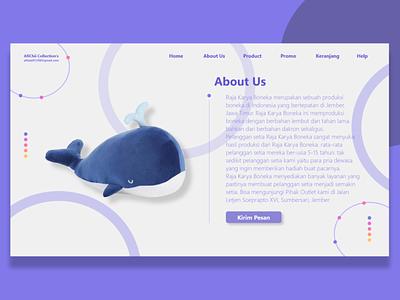 Raja Karya Boneka Website About Us website vector ux ui logo illustrator illustration graphic design design branding