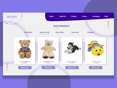 Raja Karya Boneka Product app website ux ui web illustrator illustration graphic design design branding