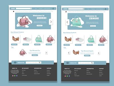 Toko Online - Homepage art web app website ux ui illustrator illustration graphic design design branding