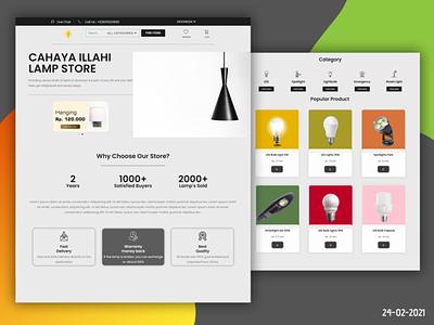 Cahaya Illahi Lamp Store web website ux ui illustration graphic design design branding
