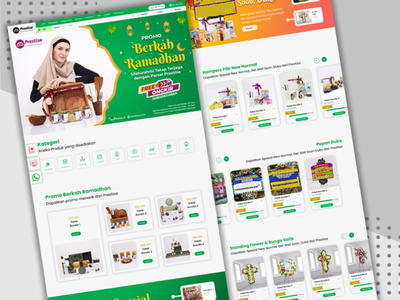 Homepage Online Shop Prestisa Indonesia typography app web illustration website ux ui graphic design design branding