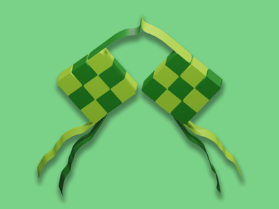 Ketupat 3d Design Illustration icon vector illustrator illustration ui ux graphic design design branding