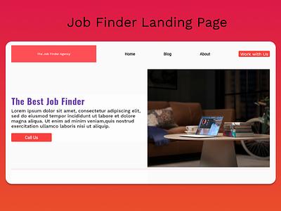 Simple Landing Page For Job Finder branding ui webdesign flutter