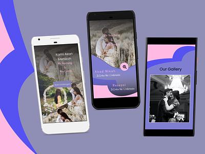 Wedding Invitations Digital responsive wedding mobile app ui app digital invitations wedding invitations flutter design webdesign