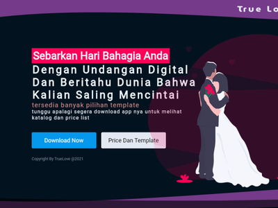 Wedding Landing Page landing page wedding webdesign flutter branding
