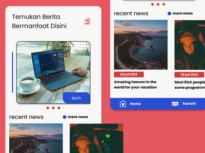 HotNews mobile news ui news portal news app design app flutter