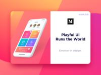 Article 28 emotion colorful gradients bright app design ios app article color ui medium article medium