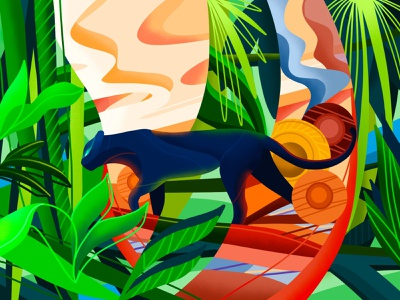 Save the Jungles tropics procreate illustration nature planet jungles panther