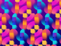 Pattern composition pattern gradient design branding flat colorful bright