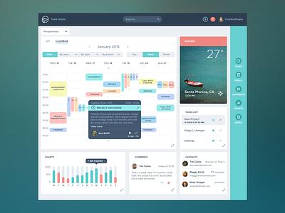 Task Management App dashboard application web webdesign calendar flat interface ui ux minimal app icons