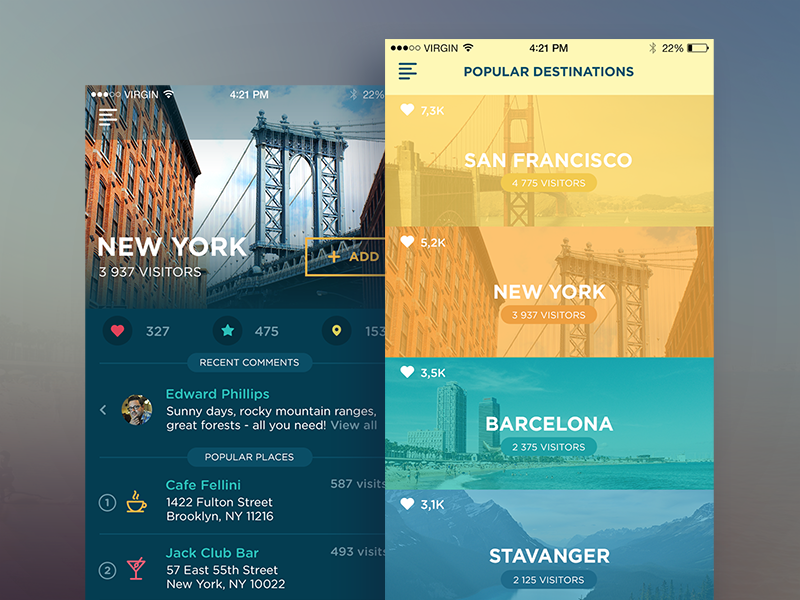 Traveller App application ios timeline travel ui ux interface minimal flat app web icon
