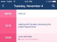 Calendar app screen2
