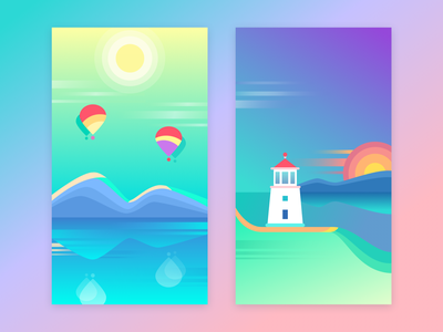 Free Colorful Wallpapers free ui sketch mobile minimal interface iphone download gradient illustration colors wallpaper