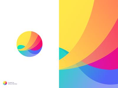 Personal Logo personal move wave identity art bright website portfolio gradient color branding logo