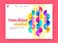 Sunshine Studio Web Concept