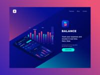 Balance App Landing Page