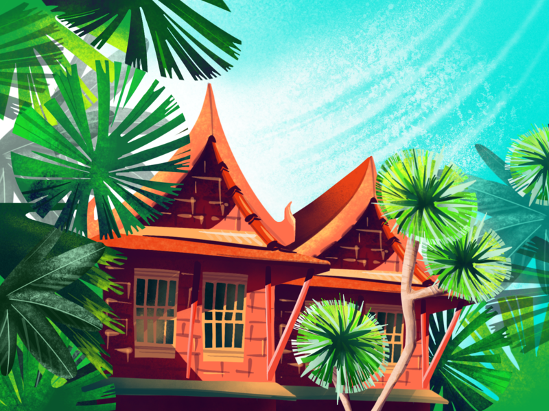Travel the World – Bangkok bright inspiration travel thailand graphic digital ipad bangkok art illustration procreate
