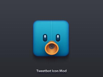 Tweetbot Mod icon dribbble photoshop vector tweetbot mod