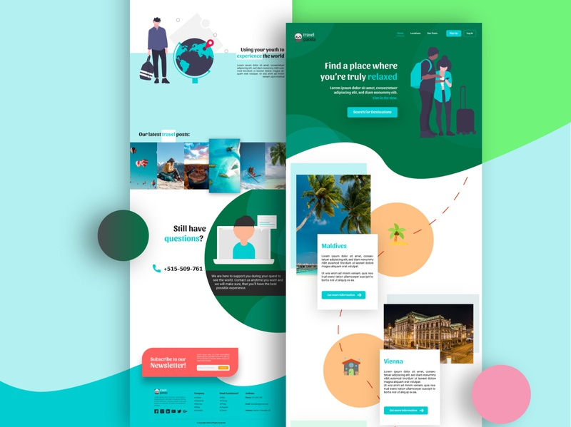 TravelPanda Trip Planner UI Landing Page Full Width Desktop