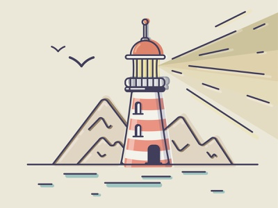 Lighthouse illustrations illustraion illustrator vectors logo lighthouse vector illustration flat vector art vectorart vector illustration art illustration