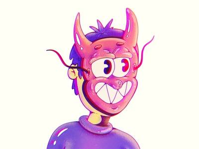 Devil Mask Startup Inferno cartoon characters cartoon illustration cartoons lowbrow art lowbrow lowbrowart mask hell devil procreate characterdesign vector art 1930s cartoon character vintage cartoon character character design illustration art illustration