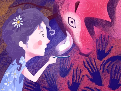 ¡Mira, papá, bueyes! character characterdesign illustration art illustration illustrations hellodribbble dribbble digitalart