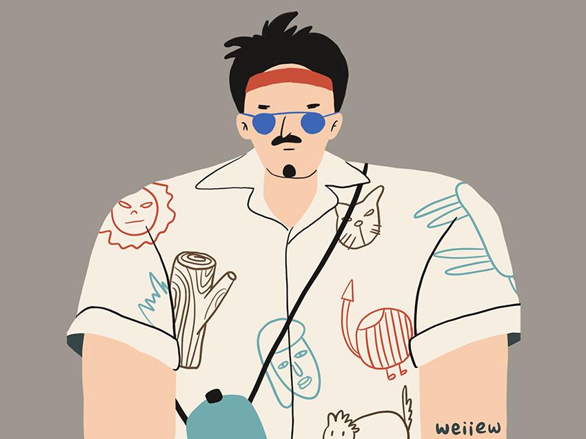 My friend Xilu procreate drawing draw character illustration