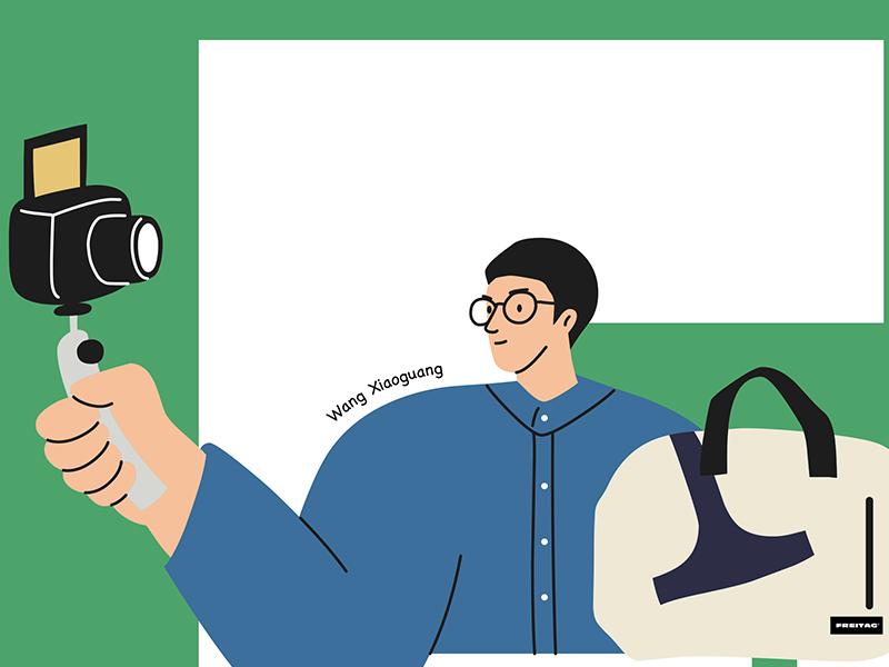 背FREITAG的人15 freitag procreate draw drawing character illustration