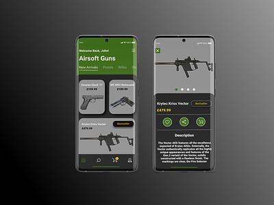 Airsoft Mobile E-commerce Design mobile app design mobile design ui figma mobile ui design ui design mobile ux design uiux
