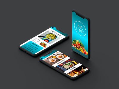 Eat Fresh recipe Application mobile app design ui mobile design figma mobile ui design ui design mobile ux design uiux