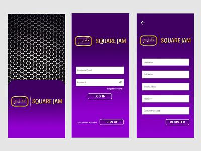 Square Jam. Social Media Application Design mobile app design mobile design ui figma mobile ui design ui design mobile ux design uiux