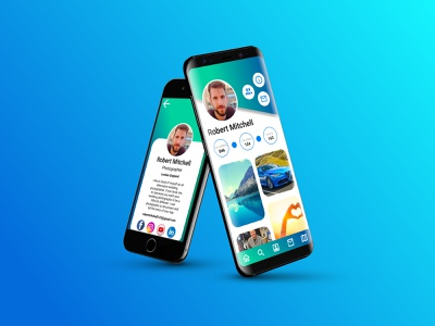 Profile Page and Information screen mobile app mobile app design mobile design figma mobile ui design mobile ux design uiux ui design