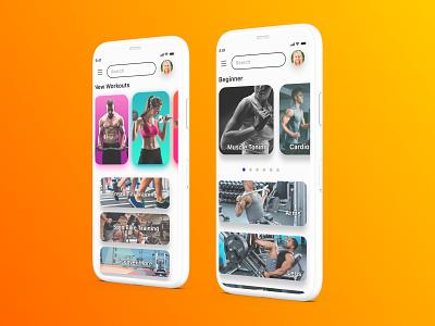 Fitness App UX Design mobile design mobile app design figma ui mobile ui design ux design uiux ui design mobile